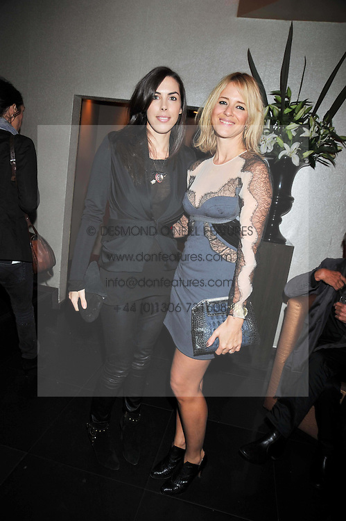 Left to right, JESSICA DE ROTHSCHILD and DEBORAH BRETT at a reception following the screening of the film '44 Inch Chest' part of the 2009 BFI London Film Festival, held at Maddox, 3-5 Mill Street, London on 17th October 2009.