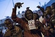 BANJUL, GAMBIA - JAN 19: People celebrate on the streets the inauguration of new Gambia's president Adama Barrow at Westfield neighbourhood on January 19, 2017 in Banjul, Gambia. AFP PHOTO / STRINGER