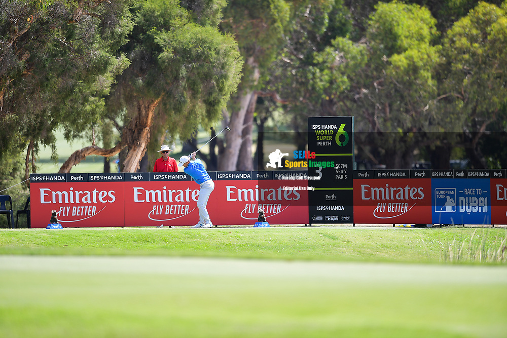 PERTH, AUSTRALIA - FEBRUARY 16: Michael Hoey (NIR) on the 3rd tee during the 3rd round of the ISPS Handa World Super 6, Lake Karrinyup Country Club, Perth, Western Australia, on February 16, 2019. <br /> .<br /> .<br /> .<br /> (Photo by: Naratip Golf Srisupab/SEALs Sports Images)<br /> .<br /> Any image use must include a mandatory credit line adjacent to the content which should read: Naratip Golf Srisupab/SEALs Sports Images