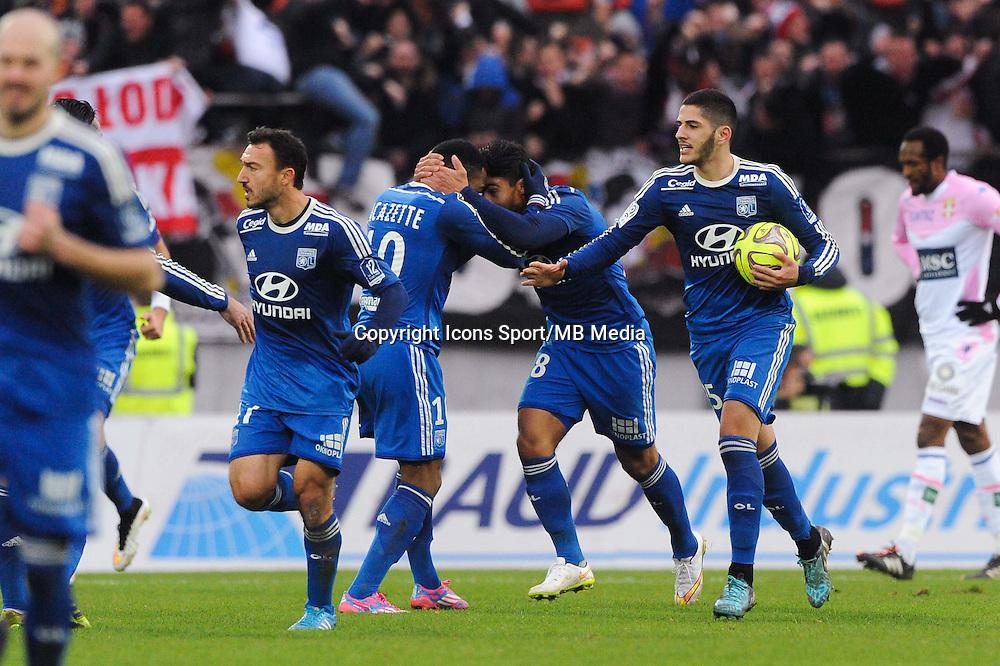 Joie Yassine BENZIA - 07.12.2014 - Evian Thonon / Lyon - 17eme journee de Ligue 1 -<br />Photo : Jean Paul Thomas / Icon Sport