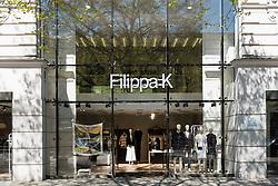 Exterior view of Filippa K designer fashion shop on Kurfurstendamm, Kudamm, Berlin Germany