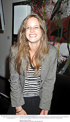 CHARLOTTE GOLDSMITH daughter of the late Sir James Goldsmith and Laure Boulay de la Meurth at the Montblanc de la Culture Arts Patronage Award 2009 held at the Tate Modern, Bankside, London SE1 on 16th April 2009.