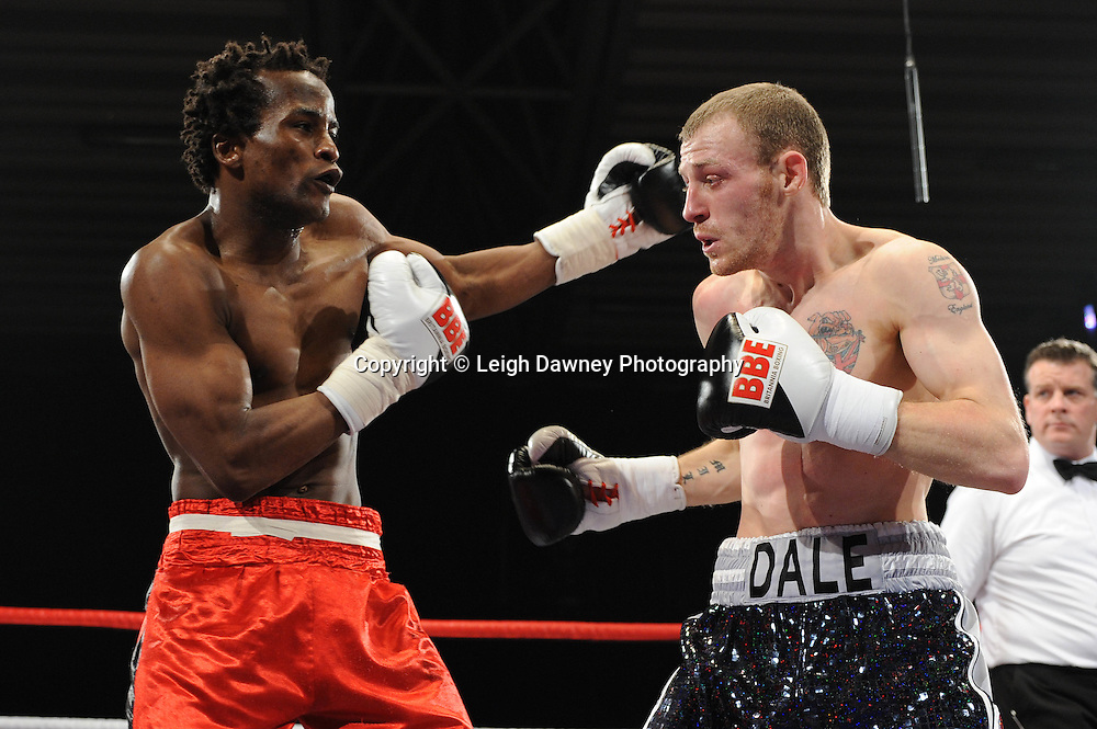 Dale Miles defeats Simone Lucas - 22nd January 2011 at Doncaster Dome, Doncaster - Frank Maloney Promotions. Credit © Leigh Dawney.
