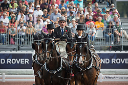 Carlo Mascheroni, (ITA), Annibal, Billy, Bjorn, Freedom, Okay - Driving dressage day 2 - Alltech FEI World Equestrian Games™ 2014 - Normandy, France.<br /> © Hippo Foto Team - Dirk Caremans<br /> 05/09/14