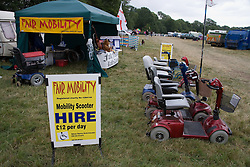 Fair Mobility'; mobility scooter hire stand at the Cropredy Festival  Fairport's Cropredy Convention  2005