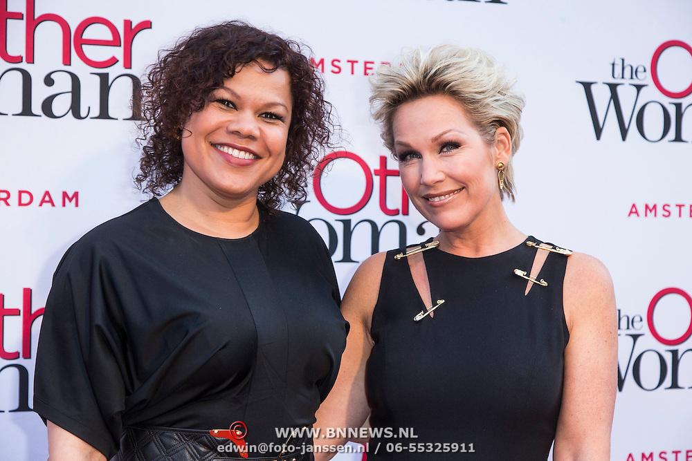 NLD/Amsterdam//20140401 - Filmpremiere The Other Woman, Anousha Nzume en Tanja Jess
