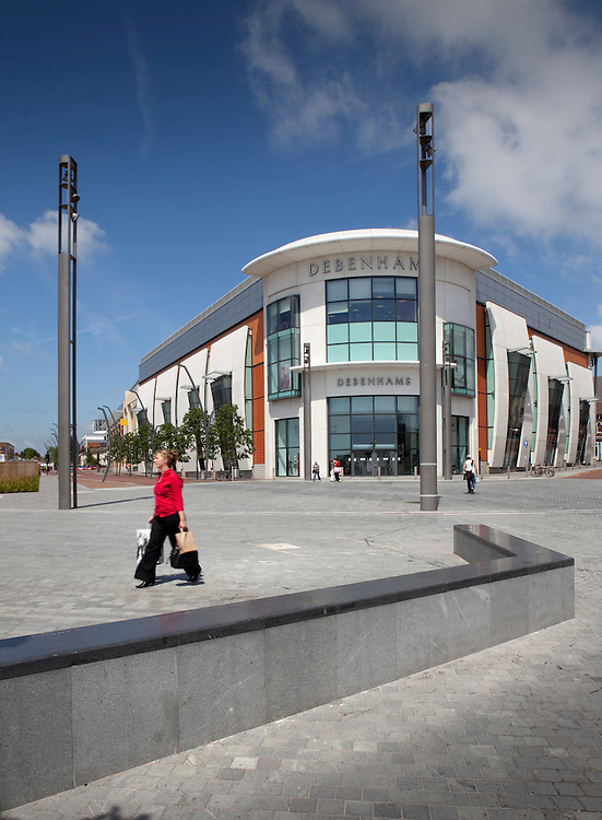 women walking through a newly landscaped area of ashford kent