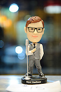 A Mayer Hawthorne bobble-head toy on sale in Suite 100 at the Pageant.