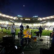 Latin Grammy Award winners, Rabanes, performing in the new Omar Torrijos baseball stadium in the city of Santiago, Veraguas.