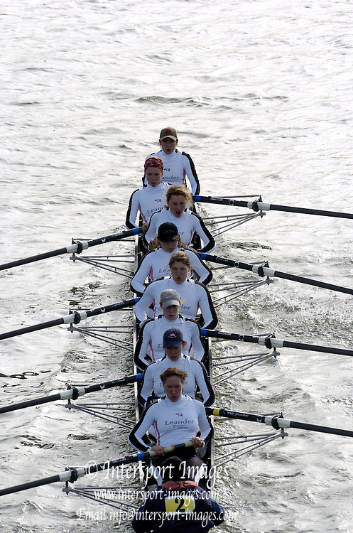 2005 Women's Head of the River, Chiswick,London, ENGLAND; Crew two Leander club..Photo  Peter Spurrier. .email images@intersport-images.....[Mandatory Credit Peter Spurrier/ Intersport Images] Rowing Course: River Thames, Championship course, Putney to Mortlake 4.25 Miles