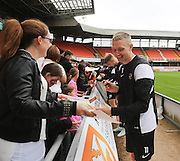 Chris Erskine signs autographs - Dundee United open day at Tannadice<br /> <br /> <br />  - &copy; David Young - www.davidyoungphoto.co.uk - email: davidyoungphoto@gmail.com