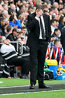Football - 2017 / 2018 Premier League - Swansea City vs. Watford<br /> <br /> Swansea City manager Paul Clement holds his head on the touchline , at the Liberty Stadium.<br /> <br /> COLORSPORT/WINSTON BYNORTH