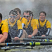 London. GREAT BRITAIN, 2007 Oxford University BC,  crew Hammer [surrey left] Bow, Paul KELLY,  2. Lucas DALGLISH, 3. Michal PIOTKOWIAK, 4. Magnus FLEMING, 5. Andrew WRIGHT, 6. Matthew BROWN, 7. Terence KOOKYER, Stroke, Adam KOSMICKI, Cox Nicholas BRODIE, competing in the 2007 Oxford University  Trial Eights, between Putney and Chiswick  07.12.2006. [Photo, Peter Spurrier/Intersport-images]. Varsity:Boat Race, Rowing Course: River Thames, Championship course, Putney to Mortlake 4.25 Miles