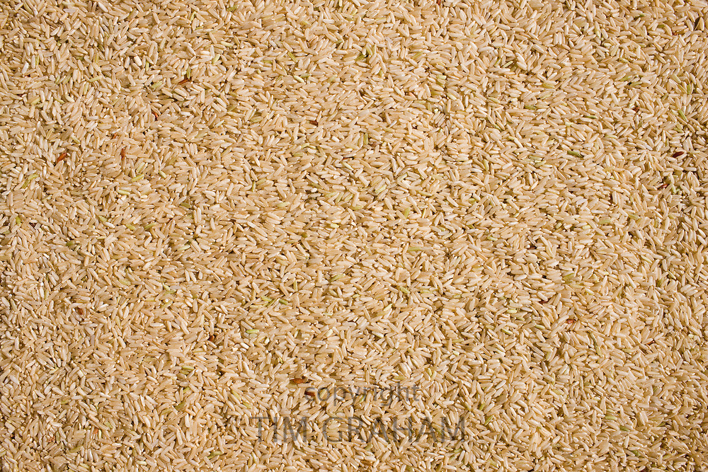 Brown wholegrain rice. Rice has become an expensive commodity as its in short supply.