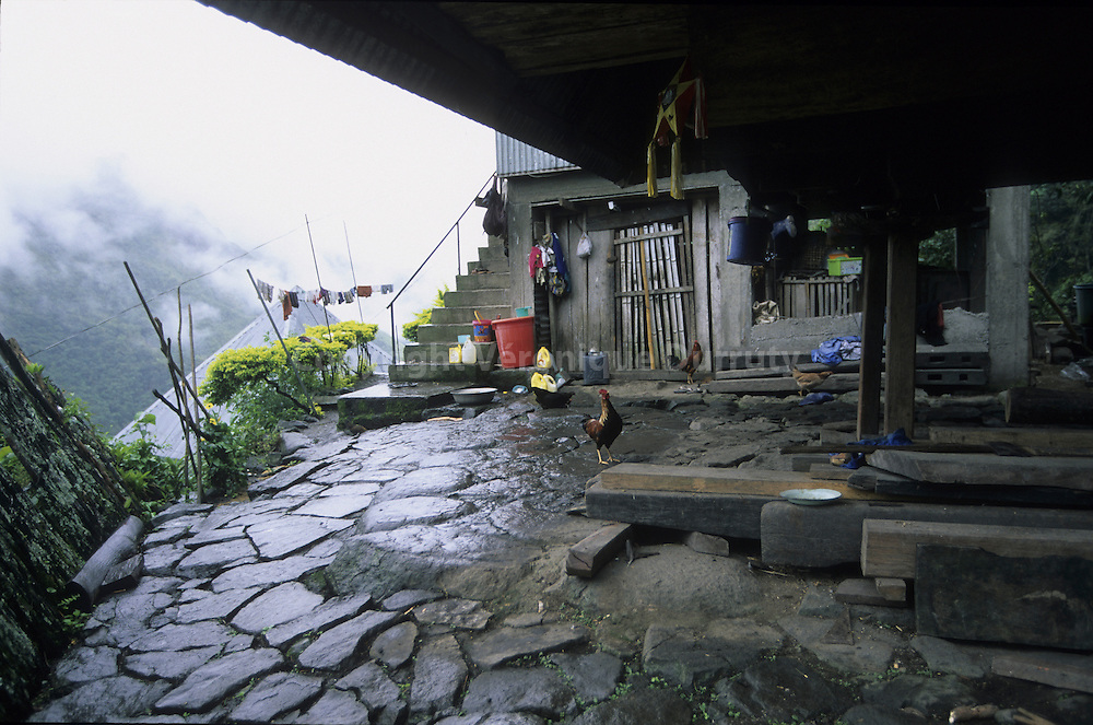 HOUSE IN A VILLAGE OF THE CORDILLERA, NORTH LUZON, THE PHILIPPINES
