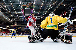Thomas Woods and Dennis Karlsson at IIHF In-Line Hockey World Championships Top Division Bronze medal game between National teams of Canada and Sweden on July 4, 2010, in Karlstad, Sweden. (Photo by Matic Klansek Velej / Sportida)