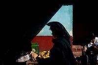 2012-01-29 San Juan Osuncalco, Guatemala. Söndag och marknadsdag i San Juan Ostuncalco. Gatuscen. Foto: Markus Marcetic