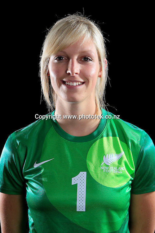 Erin Nayler. Football Ferns Head Shots, Waipuna Lodge Auckland, Thursday 12th June 2014. Photo: Shane Wenzlick
