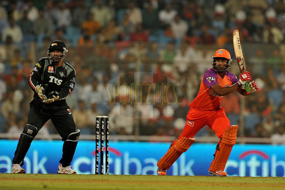 Raiphi Gomez of Kochi Tuskers Kerala bats during  match 10 of the Indian Premier League ( IPL ) Season 4 between the Pune Warriors and the Kochi Tuskers Kerala held at the Dr DY Patil Sports Academy, Mumbai India on the 12th April 2011...Photo by Pal Pillai /BCCI/SPORTZPICS