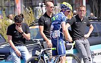 La disperazione della squadra Leopard <br /> Giro d'Italia 2011 - Tappa 4: Genova Livorno<br /> Genova, 10/05/2011<br /> © Giorgio Perottino / Insidefoto <br /> Ciclismo Cycling