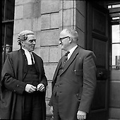 1958 - 12/05 Lenihan vs. O'Connell at High Court - Barrister is Sean MacBride