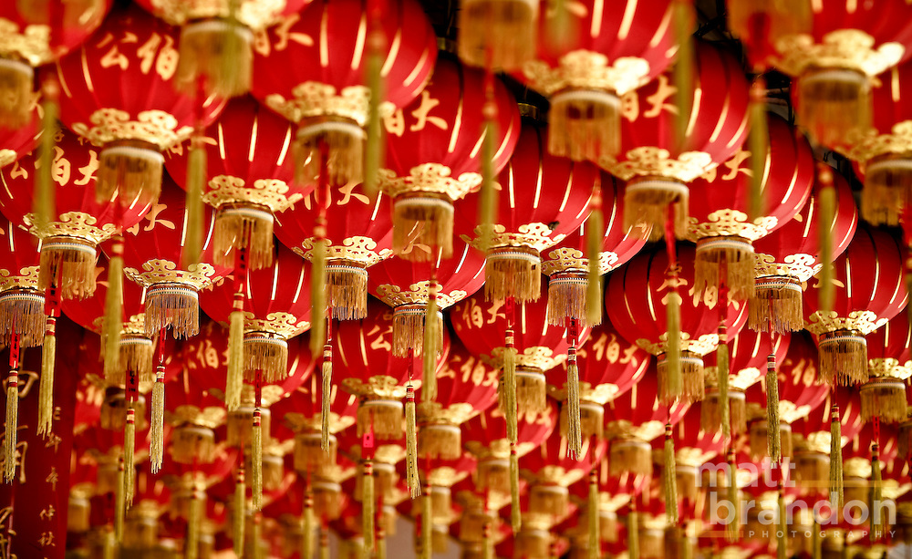 Roll after roll of Chinese lanterns.
