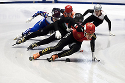 February 8, 2019 - Torino, Italia - Foto LaPresse/Nicolò Campo .8/02/2019 Torino (Italia) .Sport.ISU World Cup Short Track Torino - 500 meter Men Heats.Nella foto: Ziwei Ren..Photo LaPresse/Nicolò Campo .February 8, 2019 Turin (Italy) .Sport.ISU World Cup Short Track Turin - 500 meter Men Premliminaries.In the picture: Ziwei Ren (Credit Image: © Nicolò Campo/Lapresse via ZUMA Press)