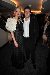LADY ELOISE ANSON and LOUIS WAYMOUTH at Quintessentially's 10th birthday party held at The Savoy Hotel, London on 13th December 2010.