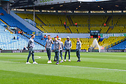 Leeds United players arrive at the ground during the EFL Sky Bet Championship match between Leeds United and Swansea City at Elland Road, Leeds, England on 31 August 2019.