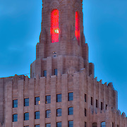Power and Light Building under renovation, downtown Kansas City, Missouri.
