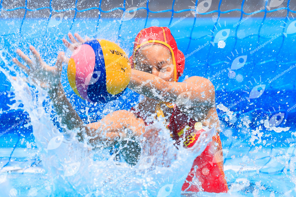 Laura Ester of Spain<br /> New Zealand (White cap) vs Spain (Blue Cap) Water Polo - Preliminary round<br /> Day 03 16/07/2017 <br /> XVII FINA World Championships Aquatics<br /> Alfred Hajos Complex Margaret Island  <br /> Budapest Hungary July 15th - 30th 2017 <br /> Photo @Marcelterbals/Deepbluemedia/Insidefoto Photo @Marcelterbals/Deepbluemedia/Insidefoto