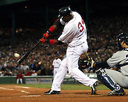 David Ortiz smacks the ball out of the ball park, scoring 2 runs to win the game and send the series back to New York, 2004 Boston Red Sox, make a run at history getting through a tough fight with the New York Yankees and then eventually sweeping the St. Louis Cardinals for the World Series title.