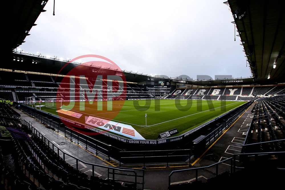 General view of Pride Park Stadium, home to Derby County - Mandatory by-line: Robbie Stephenson/JMP - 22/12/2018 - FOOTBALL - Pride Park Stadium - Derby, England - Derby County v Bristol City - Sky Bet Championship