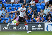 Ashley Fletcher (11) of Middlesbrough on the attack during the EFL Sky Bet Championship match between Cardiff City and Middlesbrough at the Cardiff City Stadium, Cardiff, Wales on 21 September 2019.