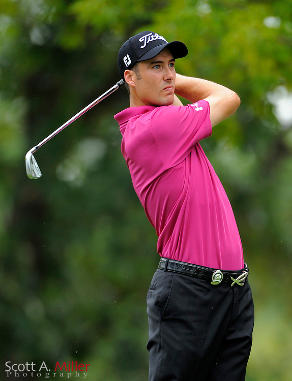 Aug 15, 2009; Chaska, MN, USA; Ross Fisher (GBR) hits a tee shot on the 17th hole during the third round of the 2009 PGA Championship at Hazeltine National Golf Club.  ©2009 Scott A. Miller