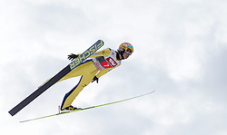 04.01.2015, Bergisel Schanze, Innsbruck, AUT, FIS Ski Sprung Weltcup, 63. Vierschanzentournee, Innsbruck, Finale, 1. Wertungssprung, im Bild Noriaki Kasai (JPN, 3. Platz) // 3rd placed Noriaki Kasai of Japan soars trought the air during his first competition jump for the 63rd Four Hills Tournament of FIS Ski Jumping World Cup at the Bergisel Schanze in Innsbruck, Austria on 2015/01/04. EXPA Pictures © 2015, PhotoCredit: EXPA/ JFK