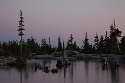 """Lake Aloha Sunset 5"" - Photograph of Lake Aloha at sunset in the Tahoe Desolation Wilderness."