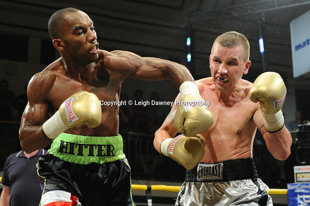 Junior Witter defeats Kevin McIntyre in the semi final at Prizefighter Welterweights II,York Hall, Bethnal Green ,London. Matchroom Sport/Prizefighter.Photo credit: Leigh Dawney 2011