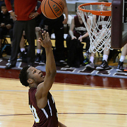TOM KELLY IV - DAILY TIMES<br /> Haverford's Lamar Stevens (30) goes up for a layup during the Episcopal Academy vs The Haverford School boys basketball game as part of the Daniel Dougherty tournament at Philadelphia University on Saturday, January 3, 2015.