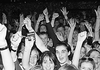 Garth Brooks in concert, Croke Park 16/5/1997 <br /> Fans at the Garth Brooks concert.<br /> (Part of the Independent Ireland Newspapers/NLI Collection)