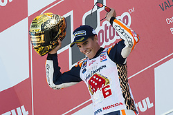 November 12, 2017 - Valencia, Valencia, Spain - 93 Marc Marquez (Spanish) Repsol Honda Team Honda celebrates his MotoGP championship during the Gran Premio Motul de la Comunitat Valenciana, Circuit of Ricardo Tormo,Valencia, Spain. Sunday 12th of november 2017. (Credit Image: © Jose Breton/NurPhoto via ZUMA Press)