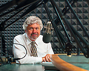 Jazz music director and radio host Bob Seymour photographed for WUSF, Tampa, Florida.