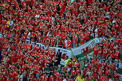 LYON, FRANCE - Wednesday, July 6, 2016: Wales supporters during the UEFA Euro 2016 Championship Semi-Final match aagainst Portugal at the Stade de Lyon. (Pic by Paul Greenwood/Propaganda)