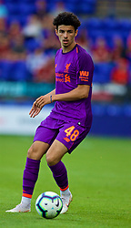 BIRKENHEAD, ENGLAND - Tuesday, July 10, 2018: Liverpool's Curtis Jones during a preseason friendly match between Tranmere Rovers FC and Liverpool FC at Prenton Park. (Pic by Paul Greenwood/Propaganda)