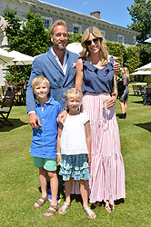 Ben & marina Fogle and their children Ludo & Iona at the Cartier Style et Luxe at the Goodwood Festival of Speed, Goodwood, West Sussex, England. 2 July 2017.<br /> Photo by Dominic O'Neill/SilverHub 0203 174 1069 sales@silverhubmedia.com