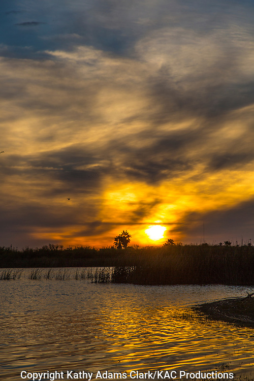 Sunset can be stunning over the waters of Lake Casa Blanca State Park outside Laredo, Texas.