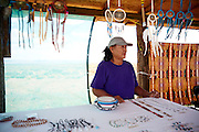 Native Artist, Selling wares on the Reservation