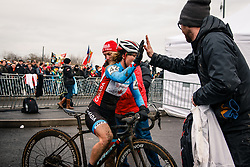 Cindy MONTAMBAULT of CAN after the Women Elite race, UCI Cyclo-cross World Championship at Bieles, Luxembourg, 28 January 2017. Photo by Pim Nijland / PelotonPhotos.com | All photos usage must carry mandatory copyright credit (Peloton Photos | Pim Nijland)