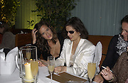 Jade Jagger and Bianca Jagger. An evening at Sanderson in aid of Sargent Cancer Care for children. Sanderson Hotel. 28 May 2002. © Copyright Photograph by Dafydd Jones 66 Stockwell Park Rd. London SW9 0DA Tel 020 7733 0108 www.dafjones.com