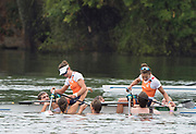 """Rio de Janeiro. BRAZIL. Gold Medalist NED LW2X. Bow. Ilse PAULIS, and Maaike<br /> HEAD, after winning the final, supporters swim out to greet and congratulate the double. 2016  2016 Olympic Rowing Regatta. Lagoa Stadium,<br /> Copacabana,  """"Olympic Summer Games""""<br /> Rodrigo de Freitas Lagoon, Lagoa. Local Time 10:40:13  Friday  12/08/2016 <br /> [Mandatory Credit; Peter SPURRIER/Intersport Images]"""